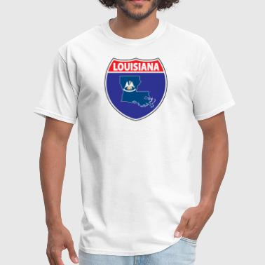 Louisiana Flag Louisiana flag hwy - Men's T-Shirt