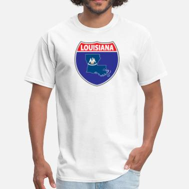 Louisiana State Flag Louisiana flag hwy - Men's T-Shirt