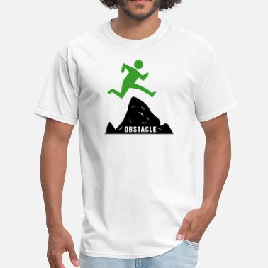 Obstacle Achievement - Jumping Over Obstacles (Success) - Men's T-Shirt