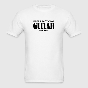 practicing guitar - Men's T-Shirt