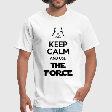 High Quality Darth Vader Keep Calm And Use The Force - Men's T-Shirt