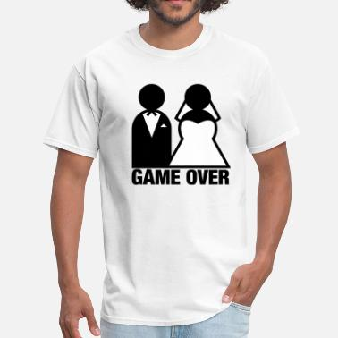 Jack & Jill Game Over - Wedding Bride and Groom - Men's T-Shirt