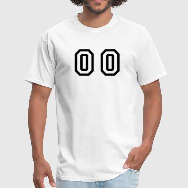 number - 00 - double zero - Men's T-Shirt