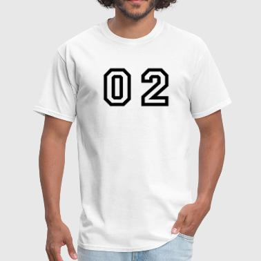 number - 02 - zero two - Men's T-Shirt