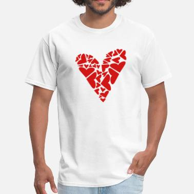 Girls Plus Size Family Hearts In Heart Formation, Asymmetrical - Men's T-Shirt