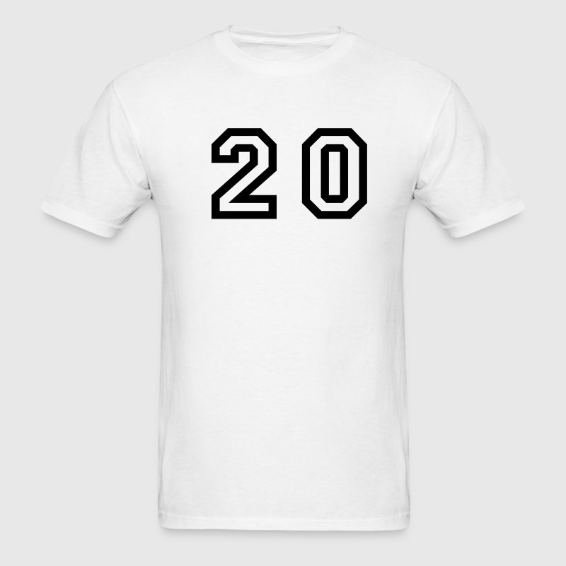 number - 20 - twenty - Men's T-Shirt