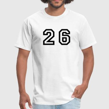 Number - 26 - Twenty Six - Men's T-Shirt