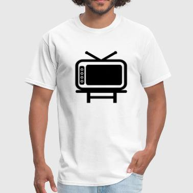 Tv Commercial Retro TV With Rabbit Ears And Table - Men's T-Shirt