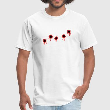 Bullet Holes Blood Bullet Holes 2 color - Men's T-Shirt