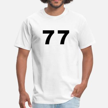 77 Number - 77 - Seventy Seven - Men's T-Shirt