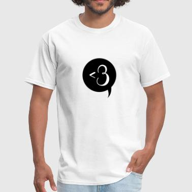 Love Sign Chat Bubble - Men's T-Shirt