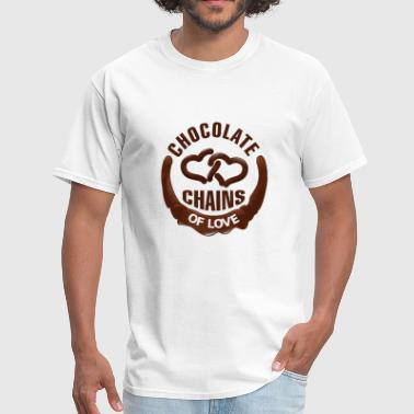 Chain Letter Chocolate Chains Of Love - Men's T-Shirt