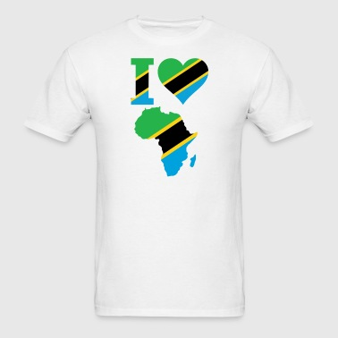 Africa Map Tanzania Flag - Men's T-Shirt