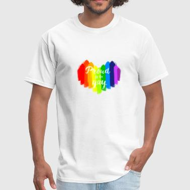 Gay Paint Proud to be Gay Paint Heart LGBT Gay Pride - Men's T-Shirt