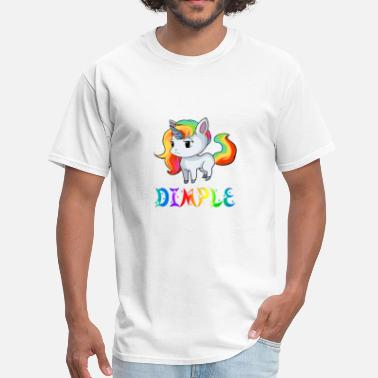 Dimple Dimple Unicorn - Men's T-Shirt