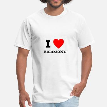 Richmond i love Richmond - Men's T-Shirt