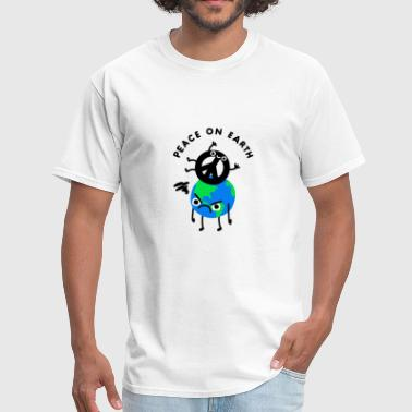 Peace On Earth Angry Earth Joke - Men's T-Shirt