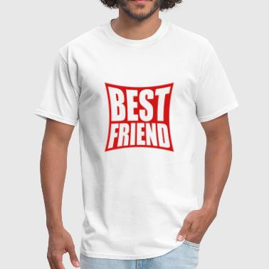 distorted angular best friends text logo friends b - Men's T-Shirt