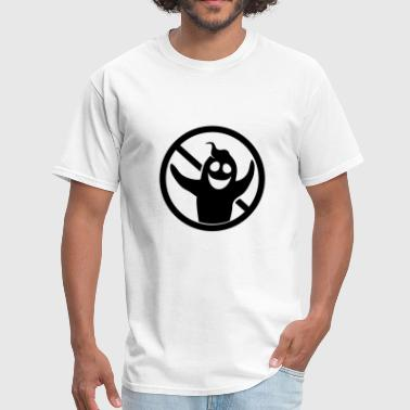 black sign symbol forbidden sign ghost ghost laugh - Men's T-Shirt