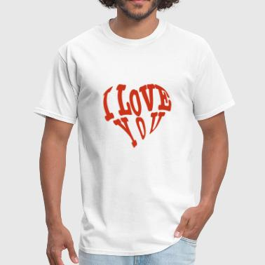 Heart, I love you - Men's T-Shirt