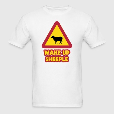 WAKE UP SHEEPLE - Men's T-Shirt