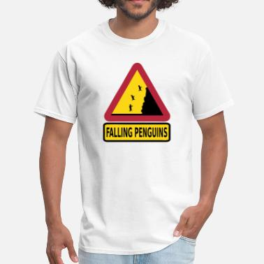 Crazy Design FALLING PENGUINS - Men's T-Shirt