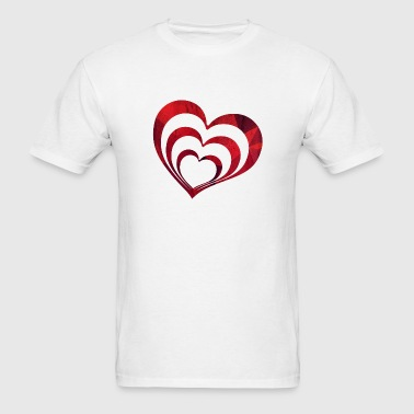 3 Hearts - Marriage, Couple and Pregnancy - Men's T-Shirt