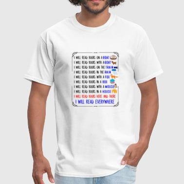 Reading Boat Funny Boat - I Will Read Books On A Boat - Humor - Men's T-Shirt