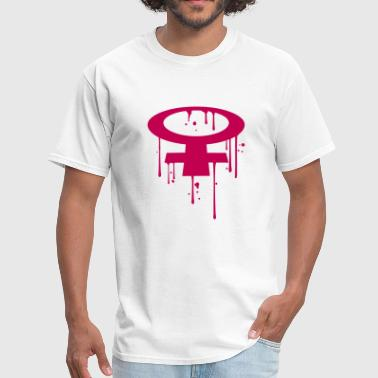 drop graffiti stamp spray floor perspective venus - Men's T-Shirt