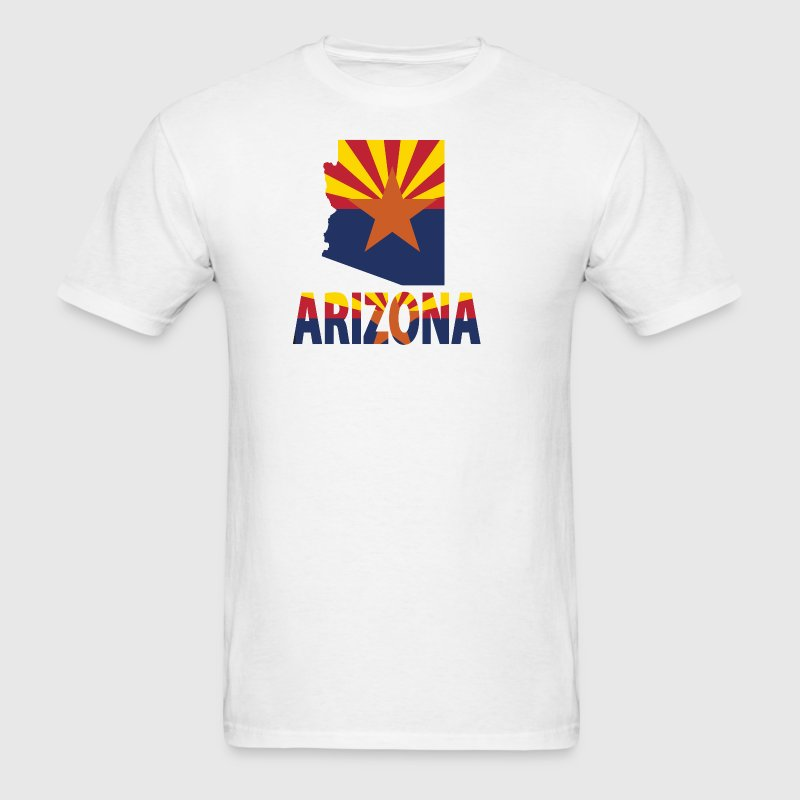 Arizona Flag Map T-Shirt - Men's T-Shirt