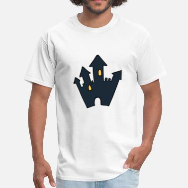 Haunted Castle Halloween Horror Haunted Castle Spooky Scary - Men's T-Shirt