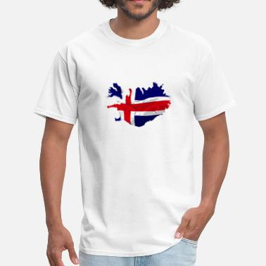 Iceland Map Iceland Flag Map - Men's T-Shirt