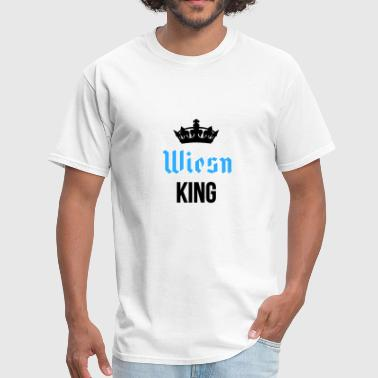 Wiesn King with crown in black - Men's T-Shirt