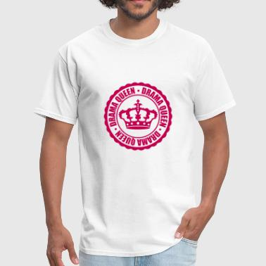 Crown Prince stamp drama queen circle around cool woman princes - Men's T-Shirt
