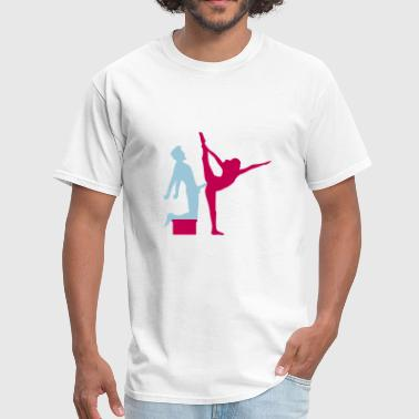 Sexy - Girl - Girls - Woman - - Sex - Love Yoga figure fitness splits sexy girl female hot cu - Men's T-Shirt
