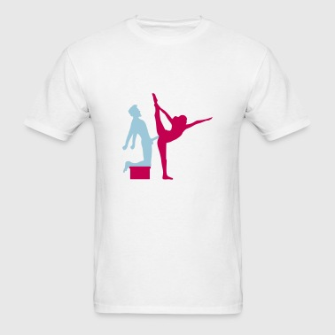 Yoga figure fitness splits sexy girl female hot cu - Men's T-Shirt