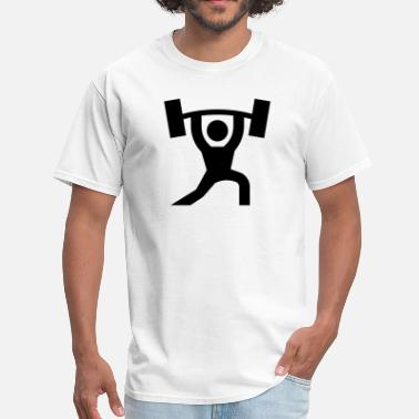 Weightlifter Icons Weightlift Icon - Men's T-Shirt