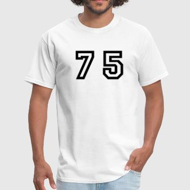 Five Number Number - 75 - Seventy Five - Men's T-Shirt
