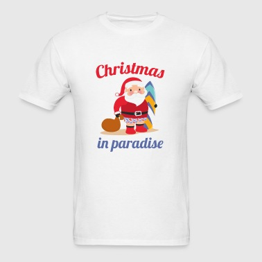 Christmas In Paradise - Men's T-Shirt