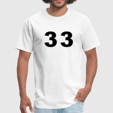 Number 33 Number - 33 - Thirty Three - Men's T-Shirt