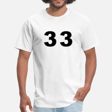 Thirty-three Number - 33 - Thirty Three - Men's T-Shirt
