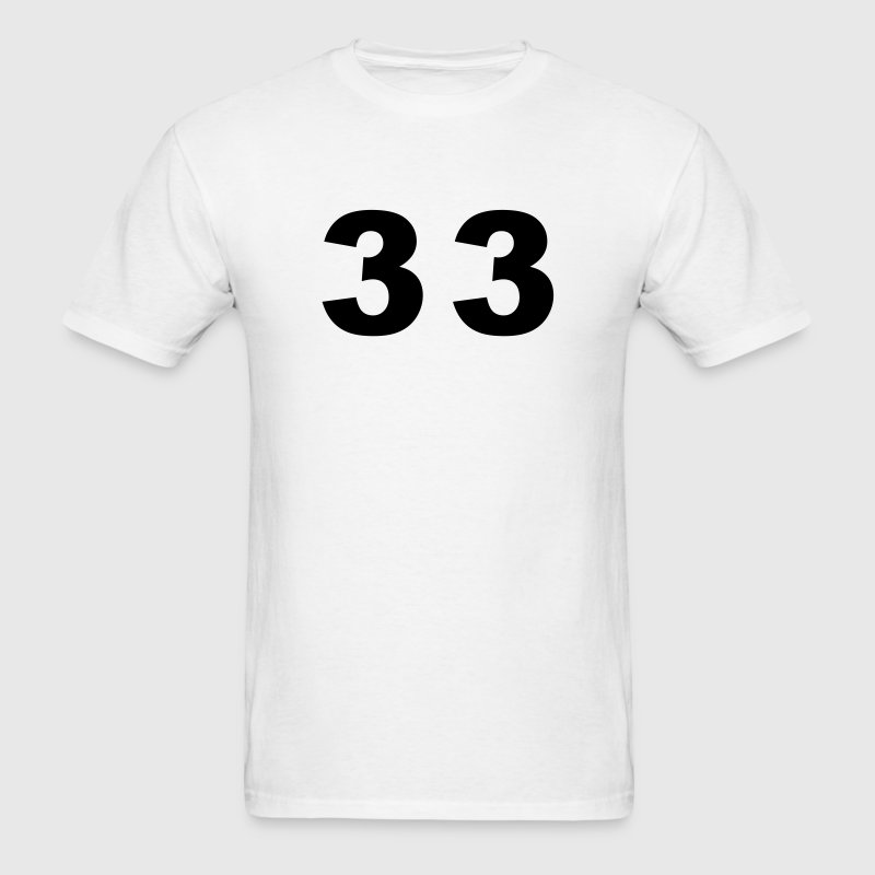 Number - 33 - Thirty Three - Men's T-Shirt