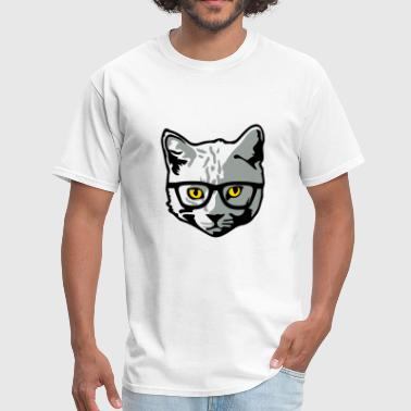 Hipster Cats Hipster Cat - Men's T-Shirt
