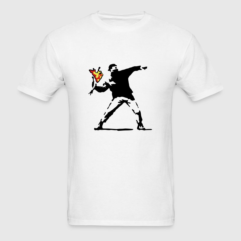 Banksy Flower Thrower - Men's T-Shirt