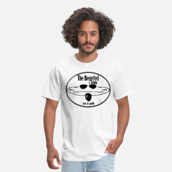 Bar T-Shirts - THE BEARDED CLAM - Men's T-Shirt white