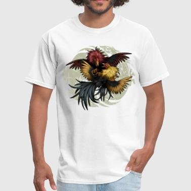 Rooster Ying Yang Gallos by Rollinlow - Men's T-Shirt