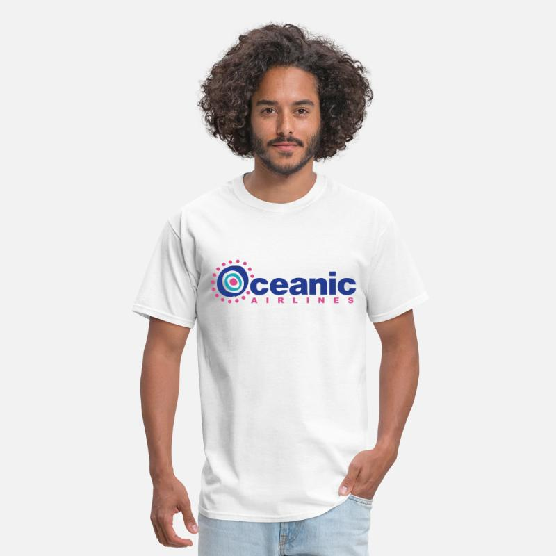 Lost T-Shirts - Oceanic Airlines (LOST) - Men's T-Shirt white