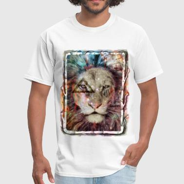 Lion Art Galaxy King Lion - Men's T-Shirt
