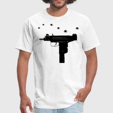 Uzi with bullet holes - Men's T-Shirt