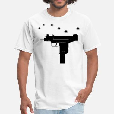 No Lackin Uzi with bullet holes - Men's T-Shirt
